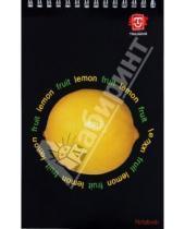 Картинка к книге TRILOGIKA - Блокнот А5 60л Фрукты на черном