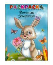 Картинка к книге Попурри - Весёлые зверята. Раскраска