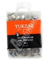 Картинка к книге TUKZAR - Кнопки канцелярские серебристого цвета 100 штук (TZ 2525)
