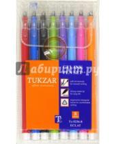 Картинка к книге TUKZAR - Набор ручек гелевых. Трехгранный цветной корпус. 8 цветов (TZ 5236-8)