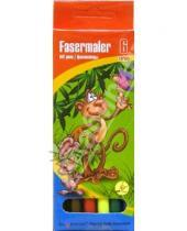 Картинка к книге Silwerhof - Фломастеры 6 цветов. Merry monkey (860614)