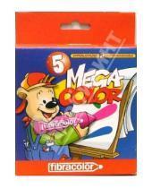 Картинка к книге Fibracolor - Фломастеры 5 цветов Megacolor fibracolor (0159)