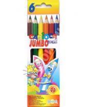 Картинка к книге Universal - Карандаши 6 цветов Carioca Jumbo (41407)