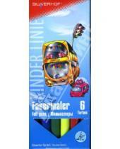 "Картинка к книге Silwerhof - Фломастеры 6 цветов 6 штук ""Funny Cars"" (860620-01)"