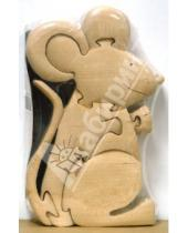 Картинка к книге Объемные продольные пазлы (массив бука) - Мышь Маруся