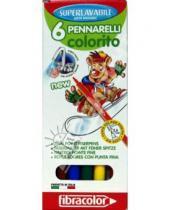 Картинка к книге Fibracolor - Фломастеры 6 цветов (539SW06/2092)