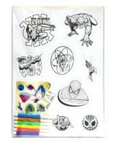 Картинка к книге Ле Флэш - Магнит-раскраска А4 (6 фломастеров)