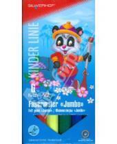 """Картинка к книге Silwerhof - Фломастеры """"Jumbo"""" 6 цветов  Panda (860627-03)"""