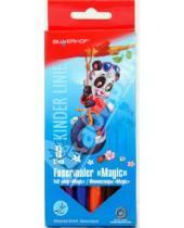 "Картинка к книге Silwerhof - Фломастеры ""Magic"" 6 цветов Panda (860627-04)"