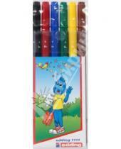 Картинка к книге Edding - Набор фломастеров. 6 цветов, двойные (F и В) детские (1111)