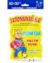 Картинка к книге Запоминай-ка - Русский язык. Части речи. Для учащихся 2-5 классов. Плакат