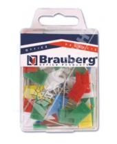 Картинка к книге Brauberg - Булавки-флажки маркировочные цветные, 50 штук (221537)