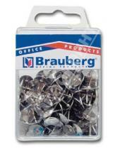 Картинка к книге Brauberg - Кнопки канцелярские металлические серебряные, 100 штук (221115)