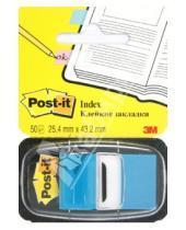 Картинка к книге POST-IT - Закладки самоклеющиеся, 50 штук, голубые (124134/680-23)