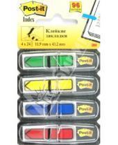Картинка к книге POST-IT - Закладки самоклеющиеся, 4 цвета*24 листа (124131/684-ARR3)