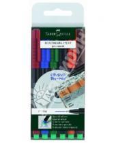 """Картинка к книге Faber-Castell - Капиллярные ручки """"MULTIMARK"""" для письма на CD, перманентные, 6 штук (151306)"""
