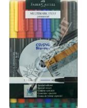 "Картинка к книге Faber-Castell - Капиллярная ручка ""MULTIMARK"" для письма на CD перманентный, 8 штук (151309)"