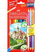 """Картинка к книге Faber-Castell - Карандаши 18 цветов, 15 шт. ECO """"Замок"""" + точилка (в ограниченном количестве) (111215)"""