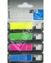 Картинка к книге Info Notes - Клейкие Z закладки пластик 4 цвета, 12,5х43мм, 36 шт (7727-75)