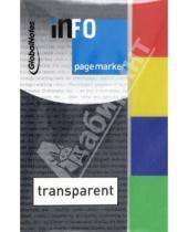 Картинка к книге GlobalNotes - Клейкие закладки, 4 цвета, цветной край, 20х50 мм, 40 листов (5670-00)