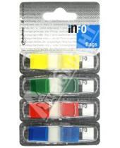 Картинка к книге GlobalNotes - Клейкие закладки пластиковые, 4 цвета, 12,5х43 мм, по 36 листов (7727-82)
