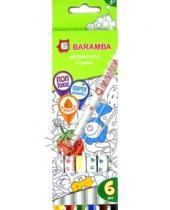 Картинка к книге Baramba - Фломастеры 6 цветов, на водной основе (B80706)