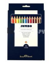 """Картинка к книге Bruno Visconti - Цветные карандаши утолщенные """"JUMBO"""" 12 цветов (30-0006)"""
