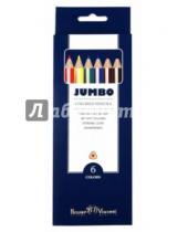 """Картинка к книге Bruno Visconti - Цветные карандаши утолщенные """"JUMBO"""" 6 цветов (30-0005)"""