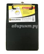 Картинка к книге Brauberg - Доска-планшет с верхним прижимом, A5, черная (232224)