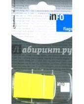Картинка к книге Info Notes - Клейкие Z закладки, пластиковые. Желтые. 25х43 мм. 50 мл.