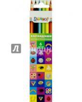 Картинка к книге Цветные карандаши 6 цветов (4-8) - Карандаши трехгранные EMOTIONS (6 цветов) (134190-06)