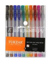 Картинка к книге TUKZAR - Набор ручек гелевых. Суперметалик с блестками.10 цветов (TZ 144-10)