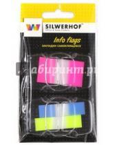 Картинка к книге Silwerhof - Закладки самоклеящиеся. 50 листов. 3 цвета. 44х25 мм. (801018)