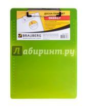 Картинка к книге Brauberg - Доска-планшет с верхним прижимом А4, желтый неон (232231)