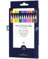"""Картинка к книге Bruno Visconti - Фломастеры """"Multicolor Easy Pack"""" (12 цветов, трехгранные) (32-0019)"""