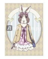 """Картинка к книге Блокноты Like - Блокнот для записей """"Винтажный заяц"""", А6"""