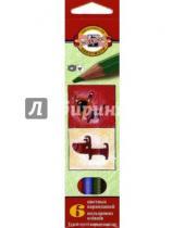 "Картинка к книге Цветные карандаши 6 цветов (4-8) - Карандаши ""Собаки и кошки"", 6 цветов (3591/6С)"