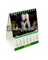 Картинка к книге Календарь настольный 120х140 (домики) - Календарь настольный на 2016 год. Домик. Год обезьяны (10601)