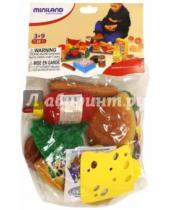 "Картинка к книге Miniland Educational - Игровой набор ""Фаст Фуд"", 19 предметов (30585)"