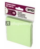 Картинка к книге IOFFICE - Клейкая бумага для заметок, 76*76 мм, 100 листов, зеленая (I-7676-03)