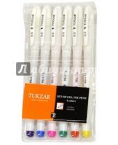 Картинка к книге TUKZAR - Набор ручек гелевых флуоресцентных, 6 цветов (TZ 119 A- 6)
