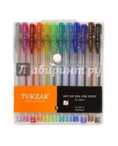 Картинка к книге TUKZAR - Набор ручек гелевых суперметаллик с блестками, 12 цветов (TZ 144-12)
