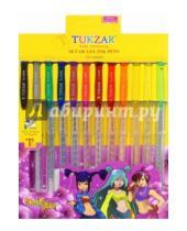 Картинка к книге TUKZAR - Набор ручек гелевых суперметаллик, 12 цветов (TZ 5208-12)