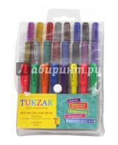Картинка к книге TUKZAR - Набор ручек гелевых, 24 цвета с блестками (TZ 5229-24)