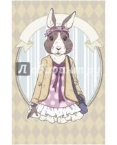 """Картинка к книге Блокноты Like - Блокнот для записей """"Винтажный заяц"""", А5"""